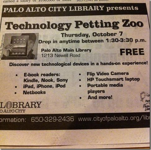 Palo Alto Library Ad, CA