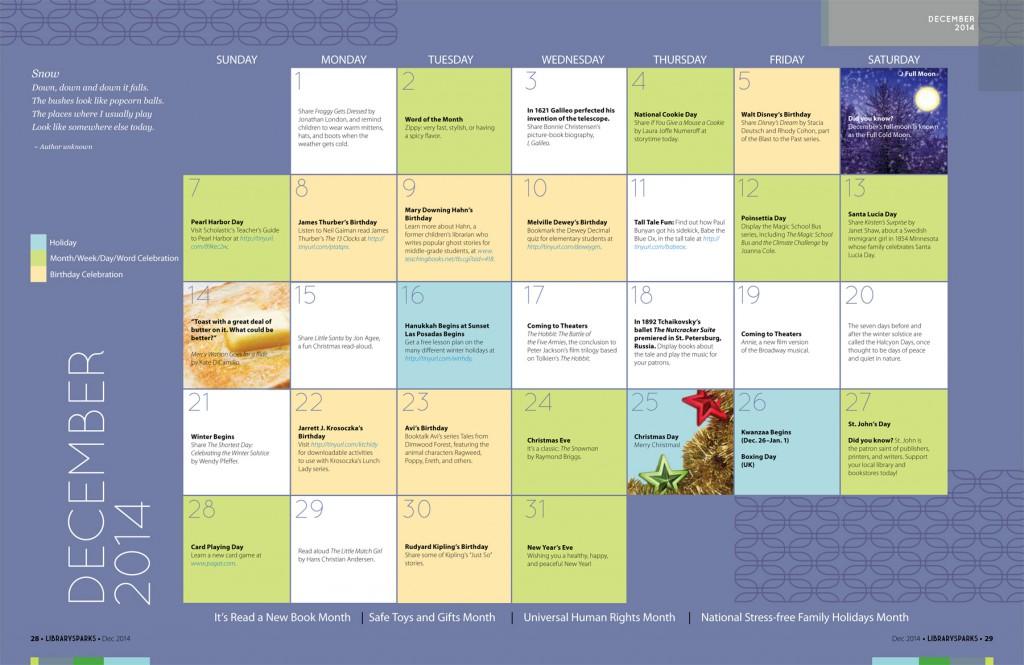 Children's Activity Calendar: December 2014