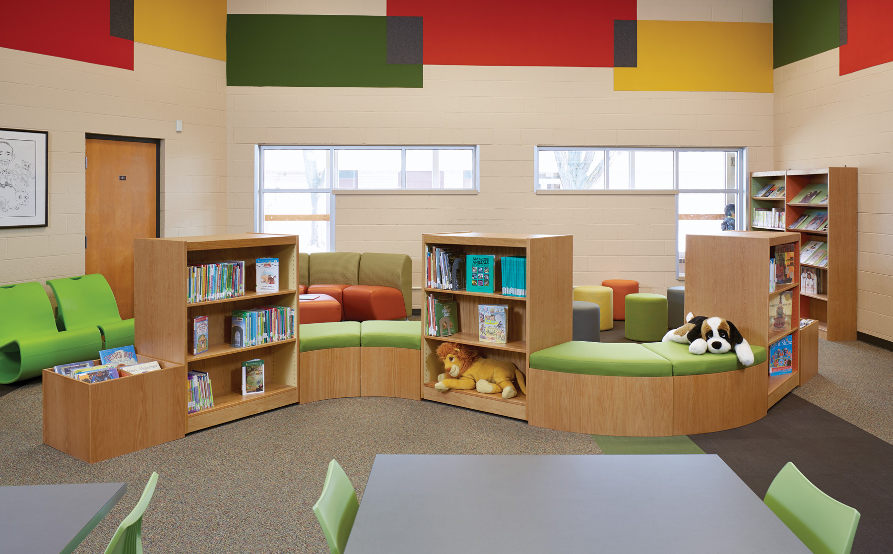 Library decorating ideas abraham lincoln elementary school for Interior design and decorating schools in lagos
