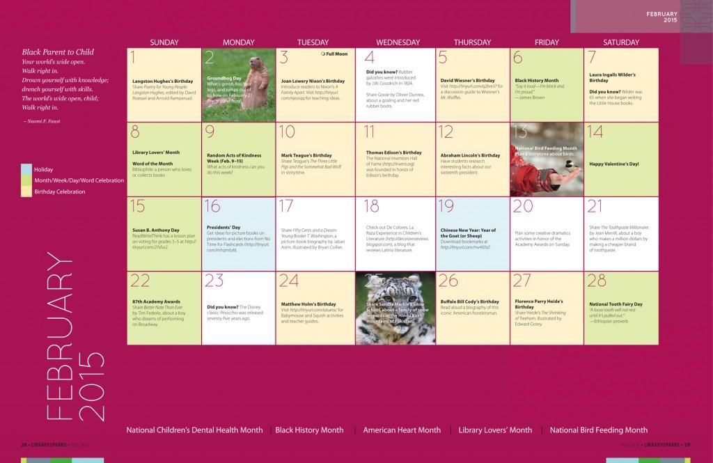 Upstart Calendar February 2015