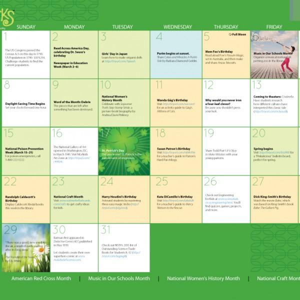 Upstart Calendar March 2015