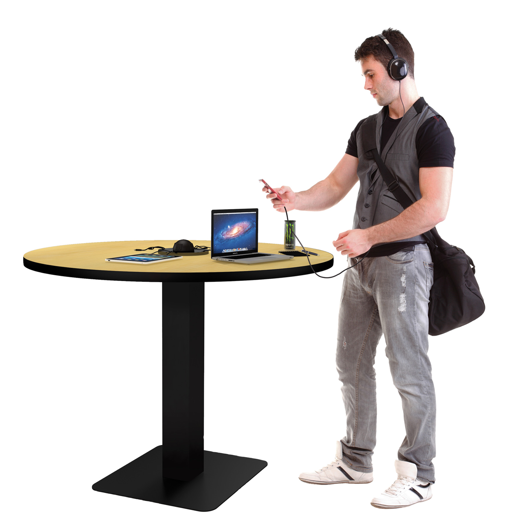 Charge It Up Ideas Inspiration From Demco - Standing cafe table