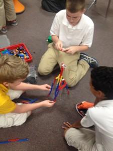 Building a trebuchet.