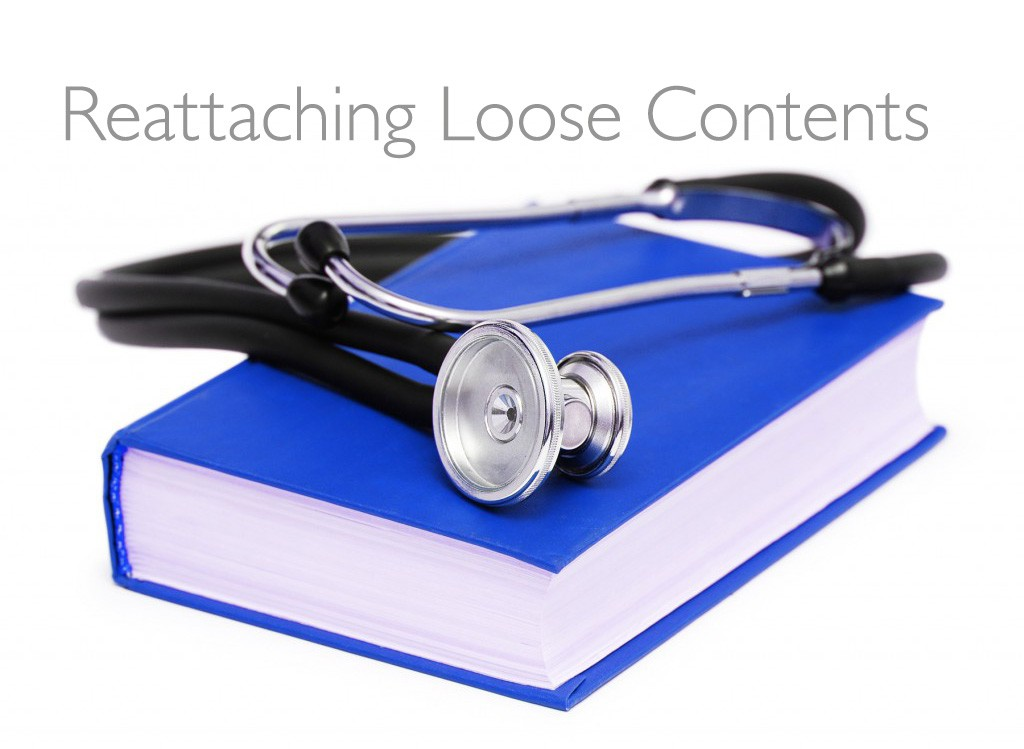 The Book Doctor is In: Reattaching Loose Contents