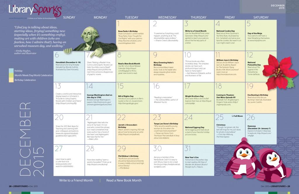 Children's Activity Calendar: December 2015
