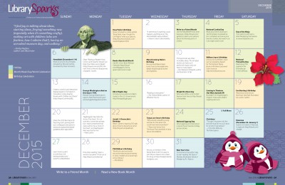 Children's Activity Calendar: December 2015