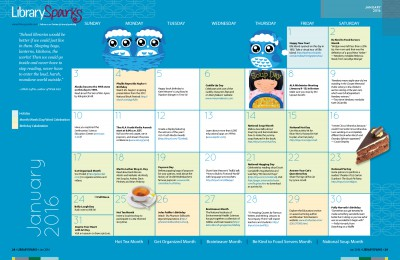 Children's Activity Calendar: January 2016