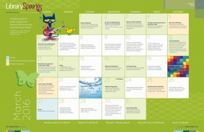 Children's Activity Calendar: March 2016