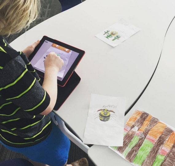 Students were introduced to the PuppetPals app by being given the freedom to explore independently.
