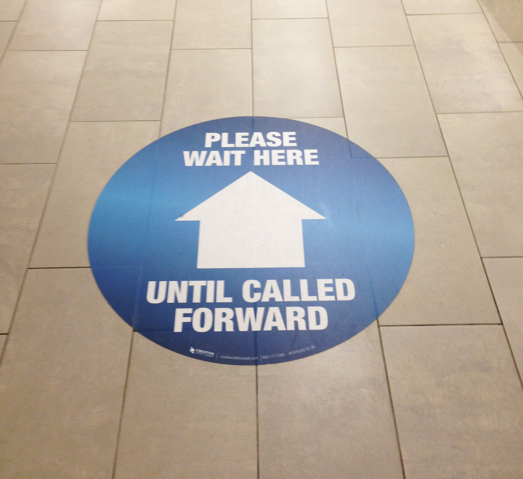 Please-Wait-Floor-Sign