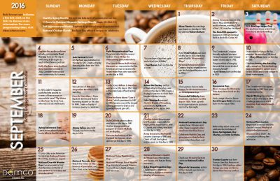 Adult Engagement Calendars: September/October 2016