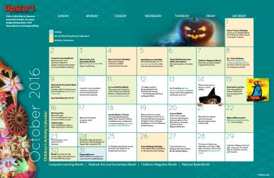 Children's Activity Calendar: October 2016