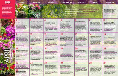 Adult Engagement Calendar: April 2017