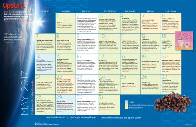 Children's Activity Calendar: May 2017