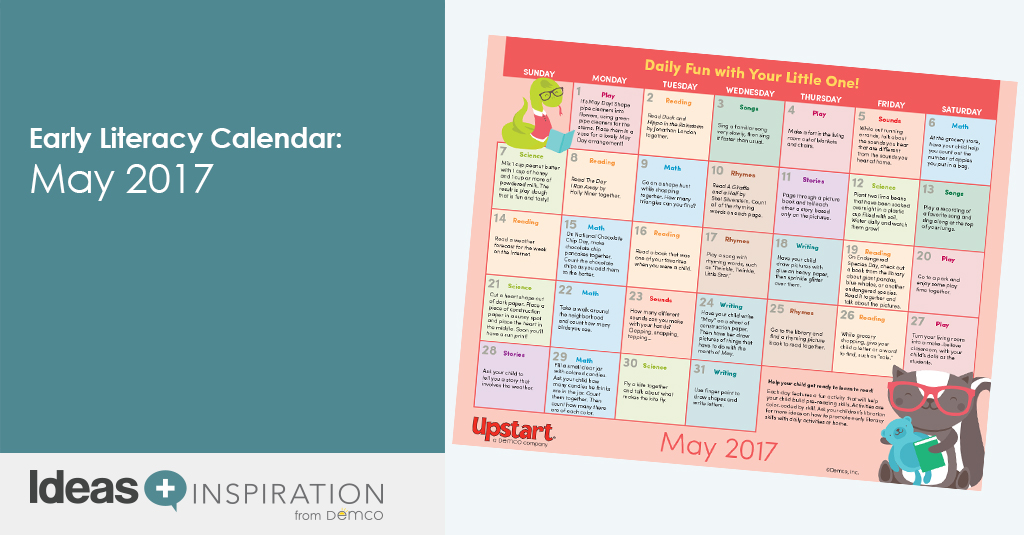 May Calendar Ideas : Early literacy activity calendar may