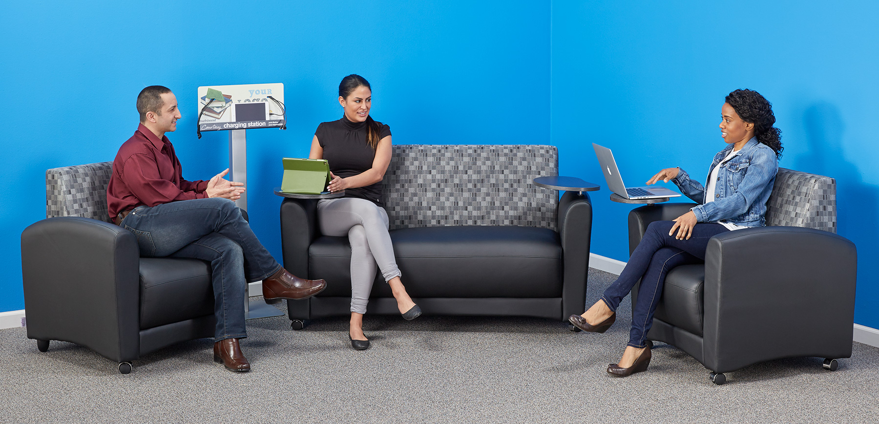 As Group Sizes Fluctuate, The OFM Interplay Lounge Seating Is Easy To  Rearrange Or Keep In Place, Thanks To Locking Casters. Optional Tablet Arms  Also ...