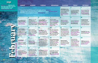 Teen Activity Calendar: February 2018
