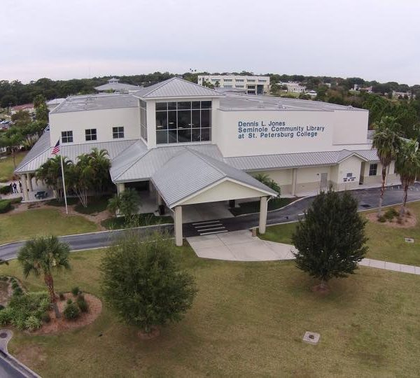Drone view of library
