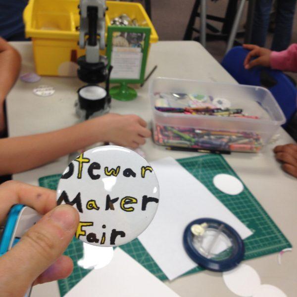 Stewart Maker Fair Button