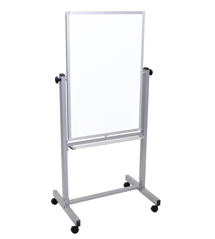 Luxor® Reversible Magnetic Mobile Markerboard Easel