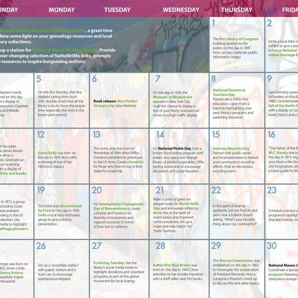 Adult Engagement Calendar November