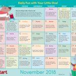 Early Literacy Activity Calendar: November 2018