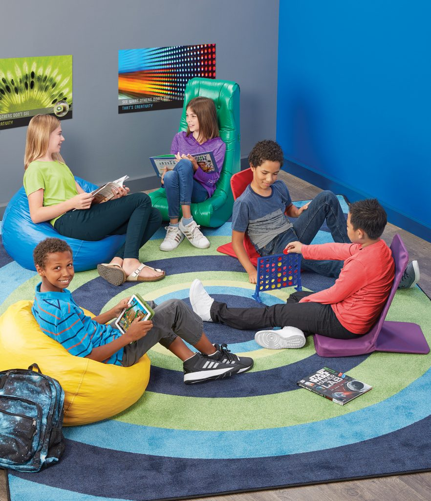 Kids in flexible seating